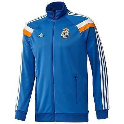 ADIDAS REAL MADRID ANTHEM JACKET Blue/White/Orange.