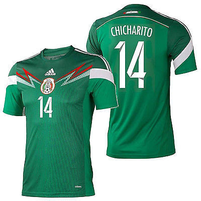 ADIDAS CHICHARITO MEXICO AUTHENTIC HOME JERSEY FIFA WORLD CUP BRAZIL 2014.