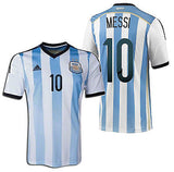 ADIDAS LIONEL MESSI ARGENTINA AUTHENTIC ADIZERO HOME JERSEY WORLD CUP BRAZIL 2014.
