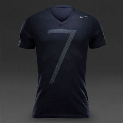 NIKE CR7 CRISTIANO RONALDO V-NECK T-SHIRT Black.