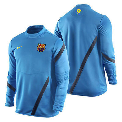 NIKE FC BARCELONA MIDLAYER TRAINING TOP Blue Cobalt/Dark Obsidian.