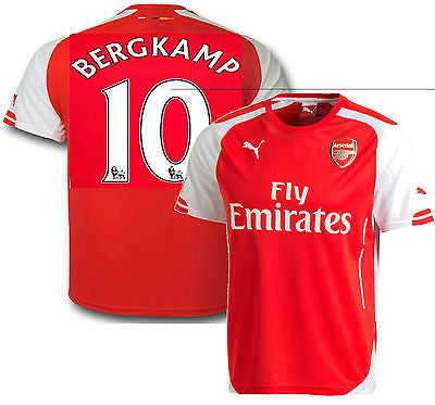 PUMA DENNIS BERGKAMP ARSENAL HOME JERSEY FOOTBALL 2014/15