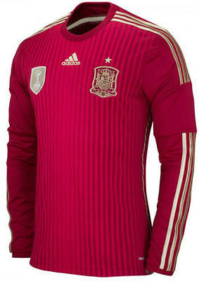 Adidas Spain Long Sleeve Home Jersey 2014 M60434