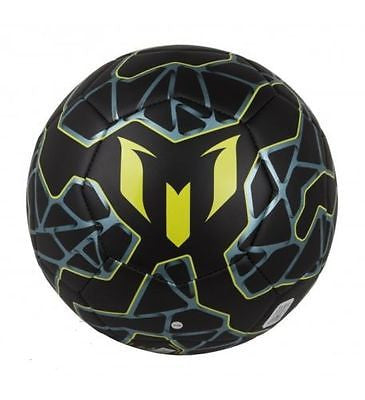 ADIDAS MESSI Q3 SOCCER BALL SIZE 5 Black / Bright Yellow / Matt Ice Met.