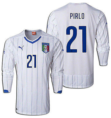 PUMA ITALY ANDREA PIRLO LONG SLEEVE AWAY JERSEY FIFA WORLD CUP BRAZIL 2014.