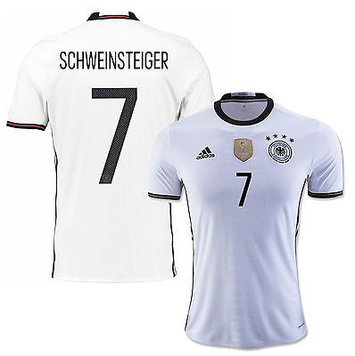 ADIDAS GERMANY EURO 2016 B. SCHWEINSTEIGER HOME JERSEY White/Black.