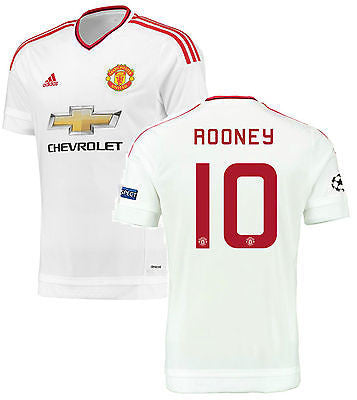 ADIDAS WAYNE ROONEY MANCHESTER UNITED CHAMPIONS LEAGUE AWAY JERSEY 2015/16 1