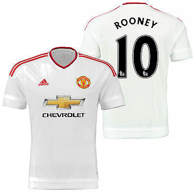 ADIDAS WAYNE ROONEY MANCHESTER UNITED AWAY JERSEY 2015/16