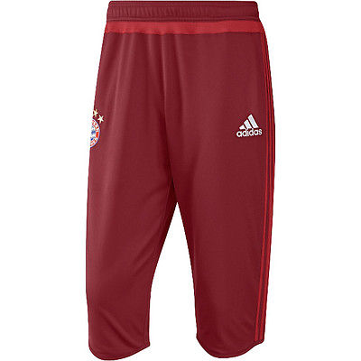 ADIDAS BAYERN MUNICH 3/4 TRAINING PANTS Red.