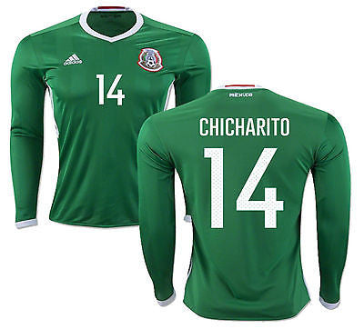 ADIDAS CHICHARITO MEXICO LONG SLEEVE HOME JERSEY COPA AMERICA 2016.