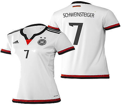 ADIDAS B. SCHWEINSTEIGER GERMANY WOMEN'S HOME JERSEY 2015/16.
