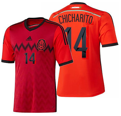 ADIDAS CHICHARITO MEXICO YOUTH AWAY JERSEY FIFA WORLD CUP BRAZIL 2014.