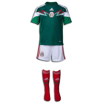 ADIDAS MEXICO MINI KIT FIFA WORLD CUP BRAZIL 2014 2014/15 TODDLER SIZES.