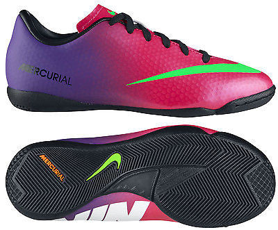 193cf31fa5ee NIKE MERCURIAL VICTORY IV IC INDOOR SOCCER SHOES FOOTBALL Fire Berry/R –  REALFOOTBALLUSA.NET