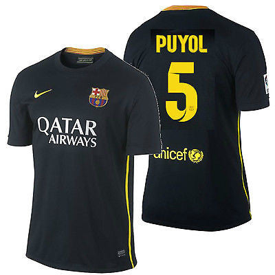 NIKE FC BARCELONA CARLES PUYOL THIRD JERSEY 2013/14.