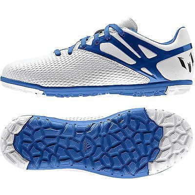 ADIDAS MESSI 15.3 TF TURF FUTSAL YOUTH SOCCER SHOES Running White Prime Blue 59820bc86