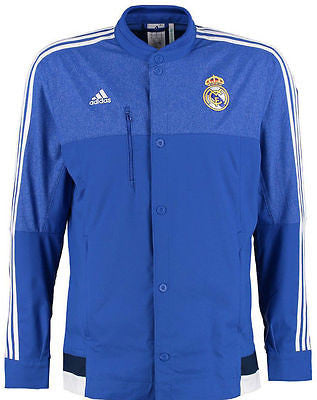 ADIDAS REAL MADRID ANTHEM JACKET Blue/White.