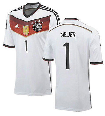 ADIDAS MANUEL NEUER GERMANY 4 STAR HOME JERSEY FIFA WORLD CUP 2014 CHAMPIONS.