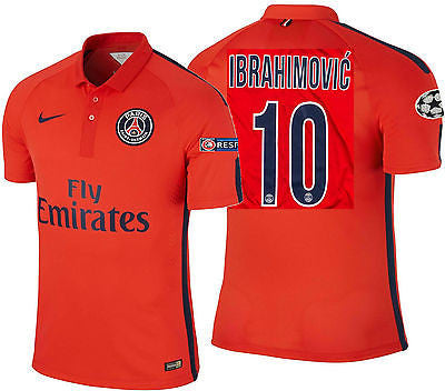 NIKE IBRAHIMOVIC PARIS SAINT-GERMAIN PSG AUTHENTIC THIRD MATCH JERSEY 2014/15.