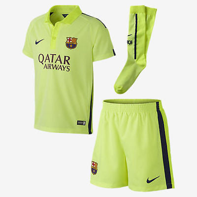 NIKE FC BARCELONA LITTLE BOYS THIRD KIT 2014/15