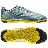 ADIDAS MESSI 15.3 TF TURF YOUTH SOCCER SHOES Ice/Bright Yellow/Core Black.