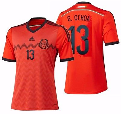 8be387ba824 Adidas Guillermo Ochoa Mexico Away Jersey FIFA World Cup 2014 G74508