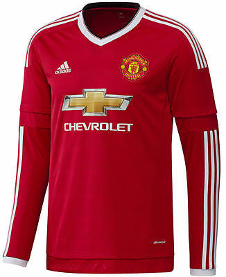 ADIDAS MANCHESTER UNITED LONG SLEEVE HOME JERSEY 2015/16