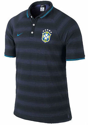 NIKE BRAZIL AUTHENTIC LEAGUE POLO SHIRT.