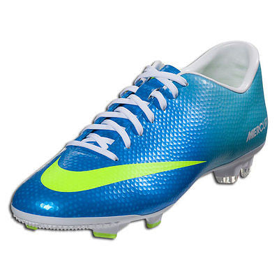 NIKE MERCURIAL VICTORY IV FG FIRM GROUND SOCCER CR7 SHOE FOOTBALL NEPTUNE BLUE