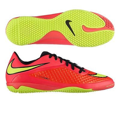 NIKE HYPERVENOM PHELON IC INDOOR SOCCER FUTSAL SHOES  Bright Crimson/Hyper Punch