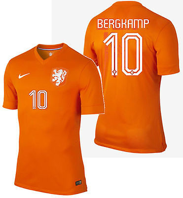 NIKE DENNIS BERGKAMP NETHERLANDS AUTHENTIC HOME JERSEY FIFA WORLD CUP 2014.