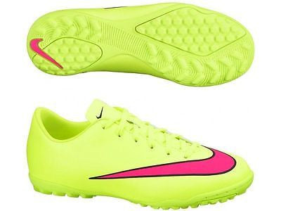 NIKE MERCURIAL VICTORY V TF TURF JUNIOR YOUTH SOCCER SHOES Volt/Black.