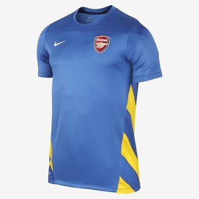 NIKE ARSENAL SQUAD TRAINING TOP Royal/Gold.