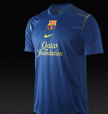 NIKE FC BARCELONA PRE MATCH JERSEY Storm Blue/Meteor Blue/Tour Yellow