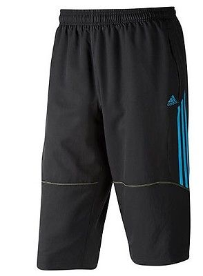 ADIDAS PREDATOR STYLE WOVEN 3/4 TRAINING PANTS Black/Blue.