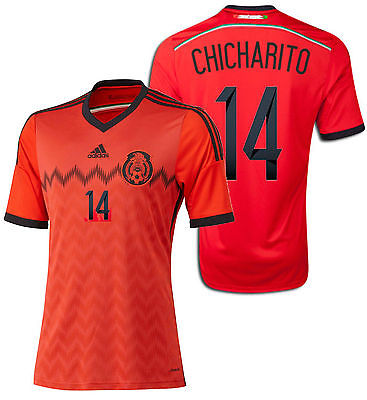 ADIDAS CHICHARITO MEXICO AWAY JERSEY FIFA WORLD CUP BRAZIL 2014.