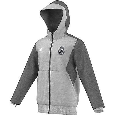 ADIDAS REAL MADRID FULL ZIP HOODIE Gray.