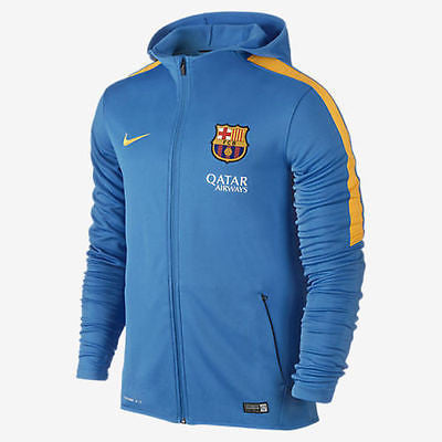 NIKE FC BARCELONA GRAPHIC KNIT FULL ZIP HOODIE Light Photo Blue/Gold