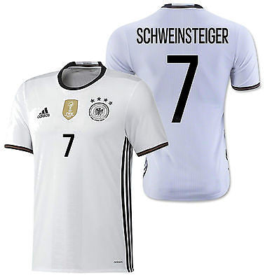 ADIDAS BASTIAN SCHWEINSTEIGER GERMANY AUTHENTIC PLAYERS ADIZERO HOME JERSEY EURO 2016