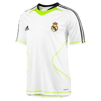 ADIDAS REAL MADRID TRAINING JERSEY White/Slime