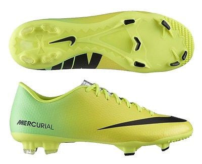 NIKE MERCURIAL VICTORY IV FG FIRM GROUND SOCCER CR7 SHOE FOOTBALL Vibrant Yellow