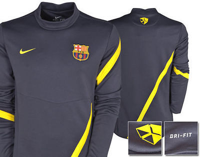 NIKE FC BARCELONA MIDLAYER TRAINING TOP Gray/Yellow.