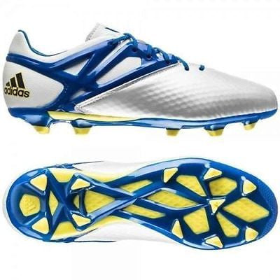 ADIDAS MESSI 15.1 FG/AG FIRM GROUND/ARTIFICIAL GROUND YOUTH SOCCER SHOES Running White