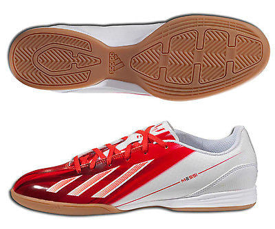 ADIDAS MESSI F10 IN INDOOR SOCCER SHOES FUTSAL White Red. –  REALFOOTBALLUSA.NET b7e54fdc65529