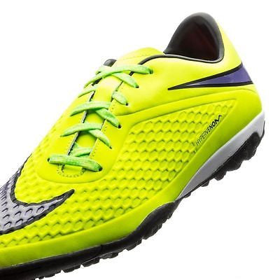 a7dd2896c ... NIKE HYPERVENOM PHELON TF TURF SOCCER SHOES Volt Hot Lava Persian  Violet ...