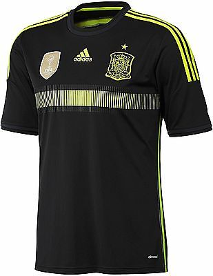 ADIDAS SPAIN AWAY YOUTH JERSEY FIFA WORLD CUP 2014 Black/Electric.