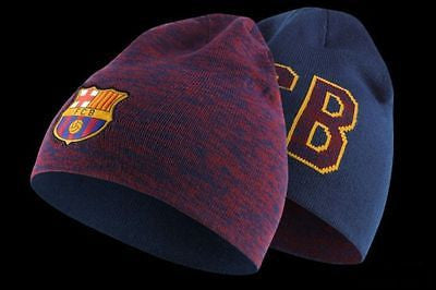 NIKE FC BARCELONA REVERSIBLE KNIT BEANIE ONE SIZE