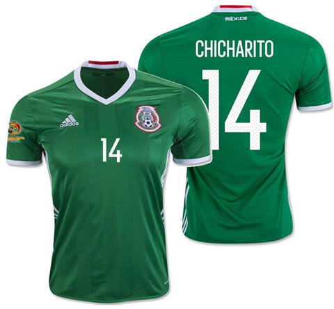 ADIDAS CHICHARITO MEXICO HOME JERSEY COPA AMERICA 2016 PATCH.