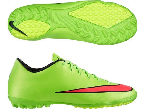 NIKE MERCURIAL VICTORY V TF TURF SOCCER CR7 SHOES Electric Green