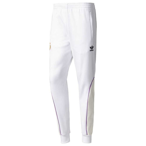 ADIDAS ORIGINALS REAL MADRID TRACK PANTS White.